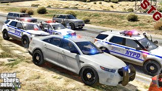 FORD TAURUS| CONNECTICUT HIGHWAY PATROL!!!| #116 (GTA 5 REAL LIFE PC POLICE MOD)