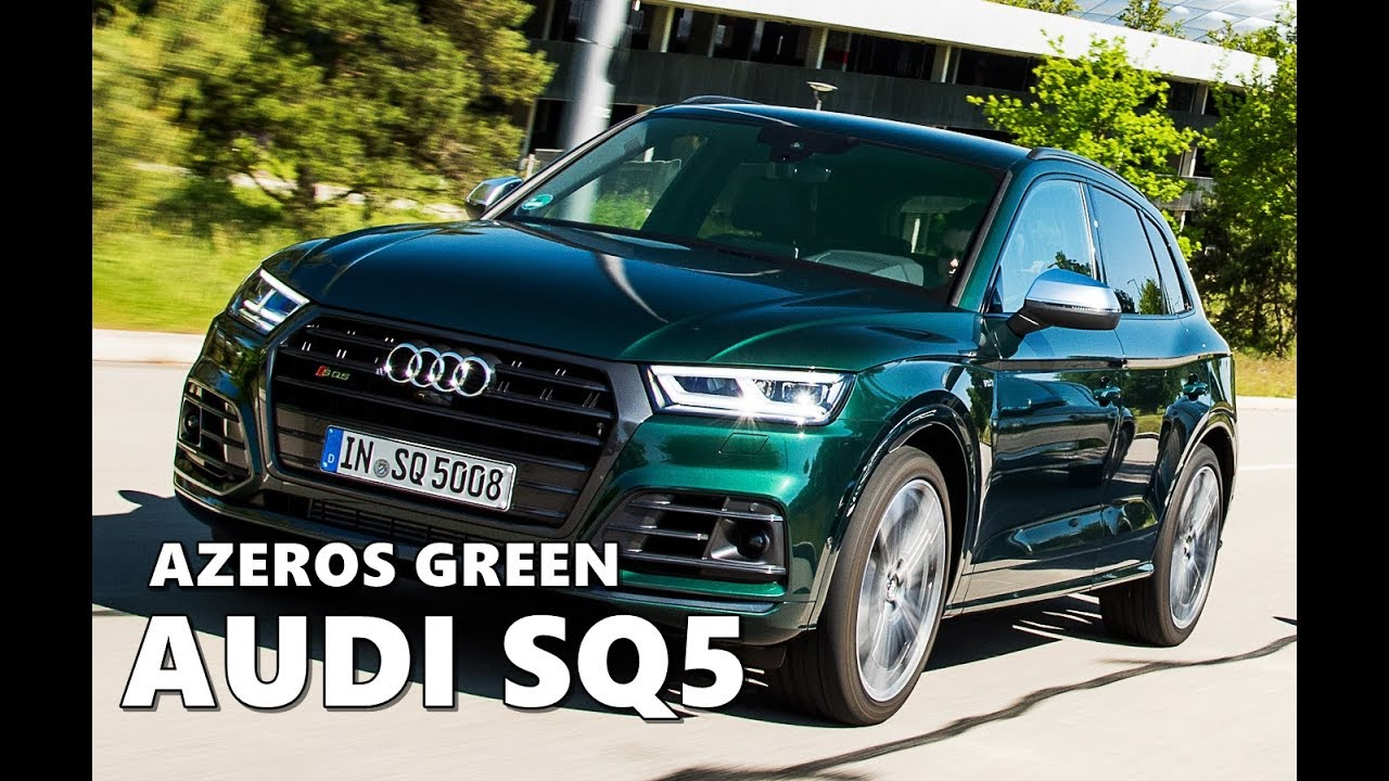 Azores Green Audi SQ5 (2018) Driving, Exterior, Interior ...