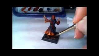 Painting a 1 Hour Miniature- Fire freehand