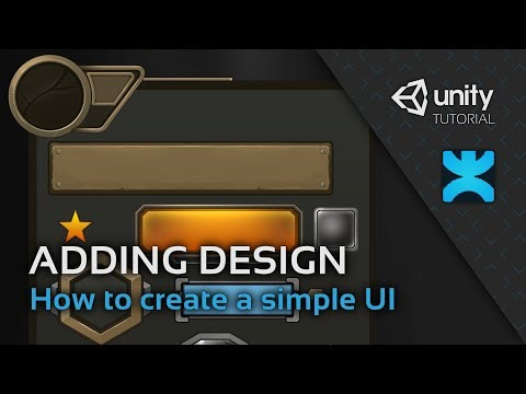 How to create a simple UI in Unity - 5 - Adding Design Elements - DoozyUI Video Tutorial