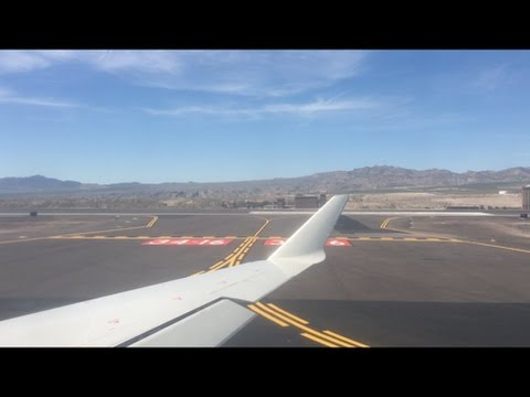 American Eagle CRJ-700 Pushback, Taxi, Takeoff Laughlin - Bullhead City Airport