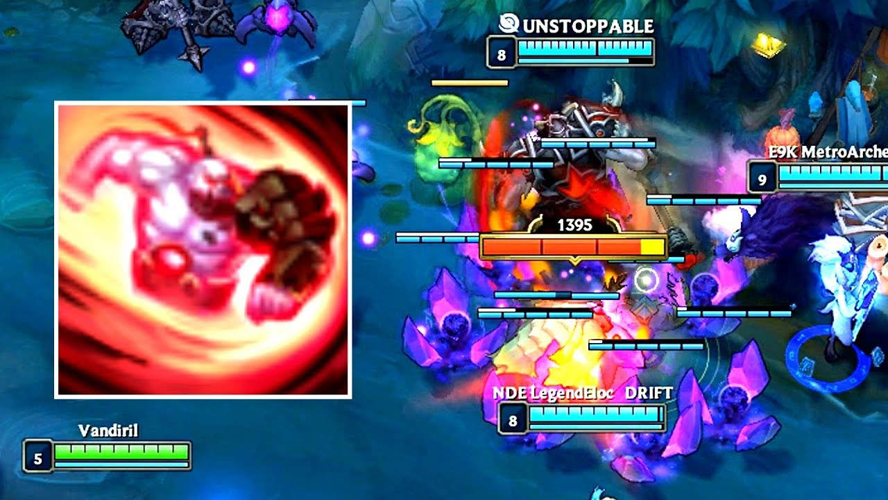 1 SION ULT - 8x DAMAGE! (Sion + Zz'Rots vs Monsters)