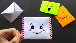 Origami Brief basteln mit Papier: Süßes Emoji DIY Geschenk / Geschenkverpackung. Bastelideen