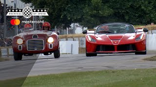Ferrari LaFerrari Aperta and stunning 125S battle on track at #FOS