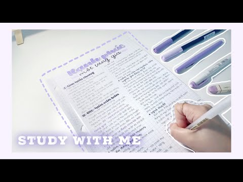 Take notes môn Văn chỉ dùng bút màu tím??!! //Take notes using purple pens only💜