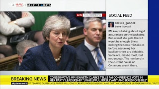 PMQs: May faces Corbyn after confidence vote triggered