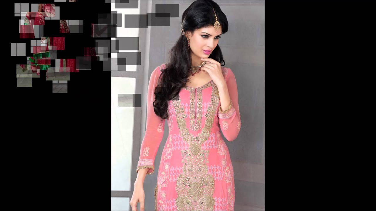 Buy Party dresses online India - Salwar kameez - YouTube