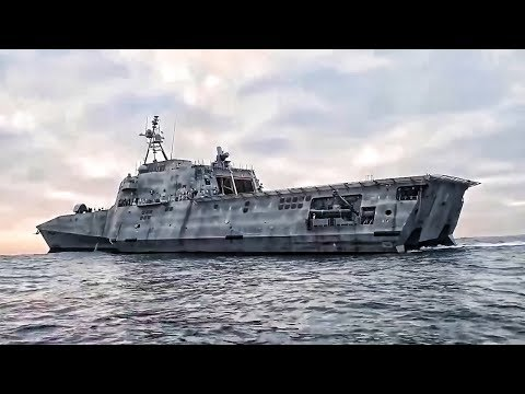 U.S. Navy's New Littoral Combat Ship Arrives In San Diego