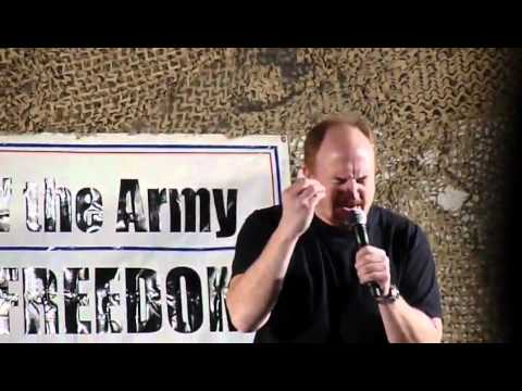 Louis CK Performing for the troops