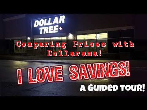 Guided Tour At Dollar Tree Canada ~ Comparing Prices With Dollarama!