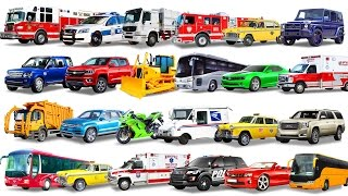 Cars Compilation for Kids. Cars and Trucks. Learning Street Vehicles for Kids. Learn Transport