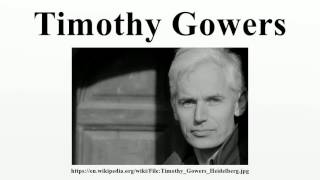 Timothy Gowers
