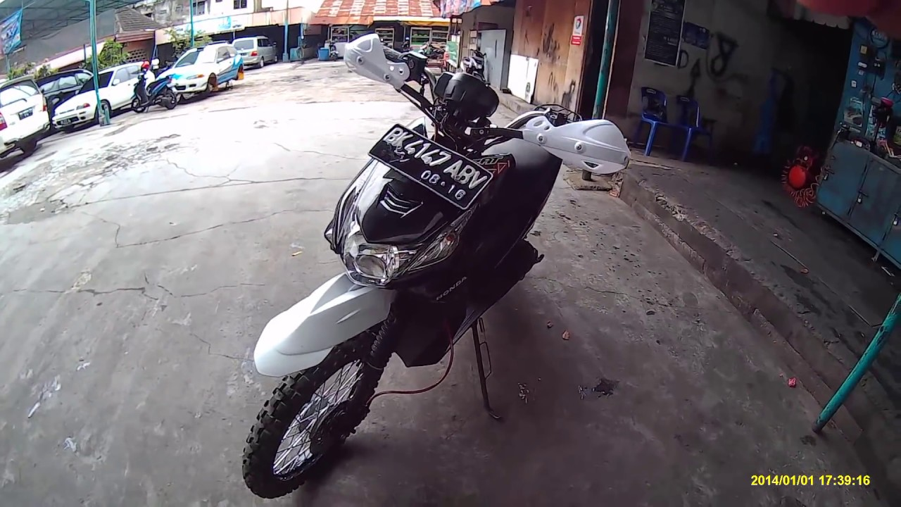 Modifikasi Honda Beat Motorcross YouTube