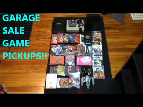 GARAGE SALE GAME PICKUPS!!