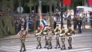 Pakistani contingent participates in French National Day 14 July 2014 in Paris, France.