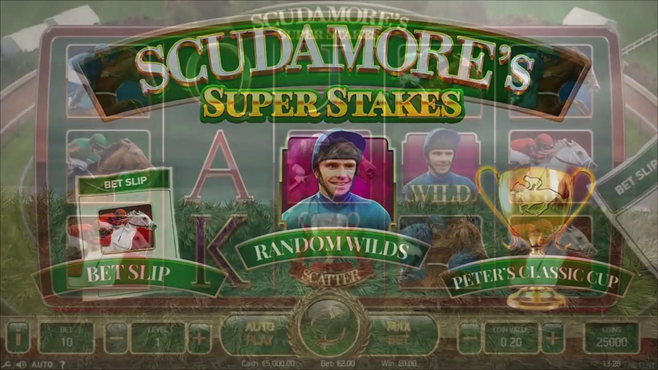 НОВИНКА!! Онлайн Слота Scudamore's Super Stakes то  Netent