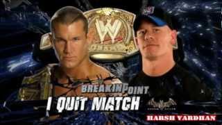 WWE Breaking Point 2009 Match Card (HD)