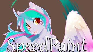 MLP Speedpaint - Rainbow Power Rough Draft