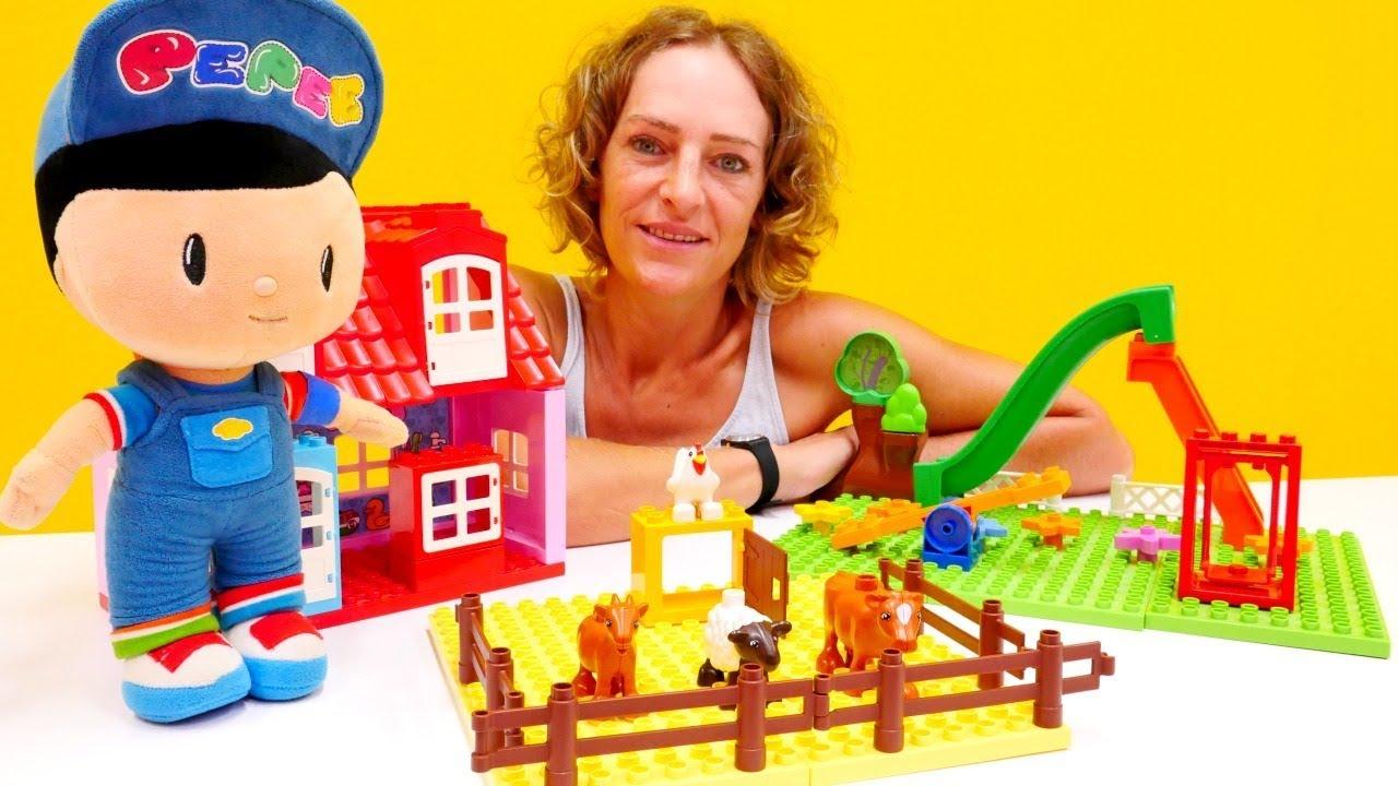 Lego duplo çiftlik - Peppe ile YENİ şehir kurması!