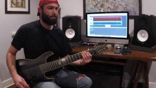 meshuggah ivory tower guitar cover by dan yob