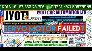 Jyoti Machine CNC control Repair, Servo motor Encoder Repair,Install Resolver Alignment Adjustment