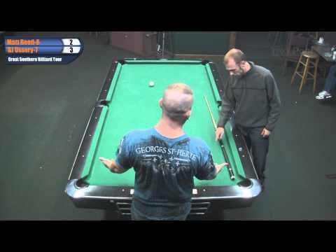 Matt Reed vs BJ Ussery at 2011 Carolina Open on the Great Southern Billiard Tour