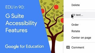 EDU in 90: G Suite Accessibility Features