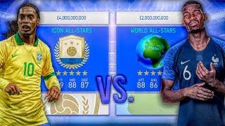 Icon ALL-STARS vs. World ALL-STARS - FIFA 19 Career Mode Experiment
