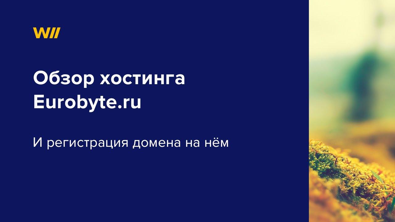 Видео обзор Eurobyte.ru и регистрация домена на нем.