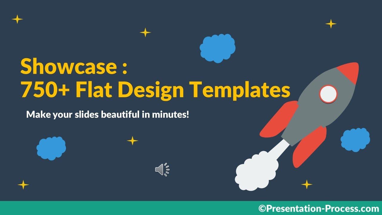 flat design templates for keynote and powerpoint - youtube, Powerpoint templates