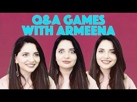 Q&A Games with Armeena Khan | MangoBaaz