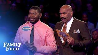$20,000 TEAMWORK! Celeste and Desmond ace Fast Money! | Family Feud