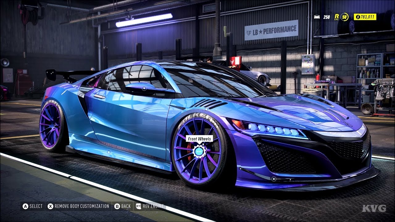 Need for Speed Heat   Acura NSX 20   Customize   Tuning Car PC HD  [20p20FPS]