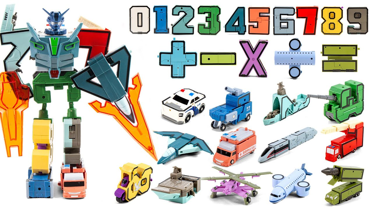 The numbers turn into robots  Five stage six stage conjugation