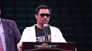 MANNY PACQUIAO'S IMMEDIATE REACTION TO SPLIT DECISION WIN OVER KEITH THURMAN