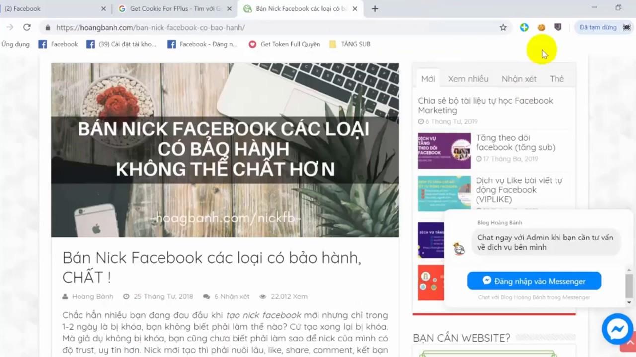 Hướng dẫn login nick facebook an toàn hạn chế check point bằng tiện ích cookie