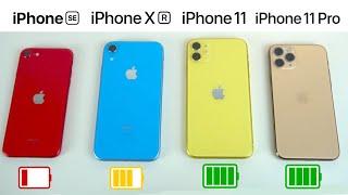 iPhone SE vs iPhone XR vs iPhone 11 vs iPhone 11 Pro, TEST BATERIA EXTREMO