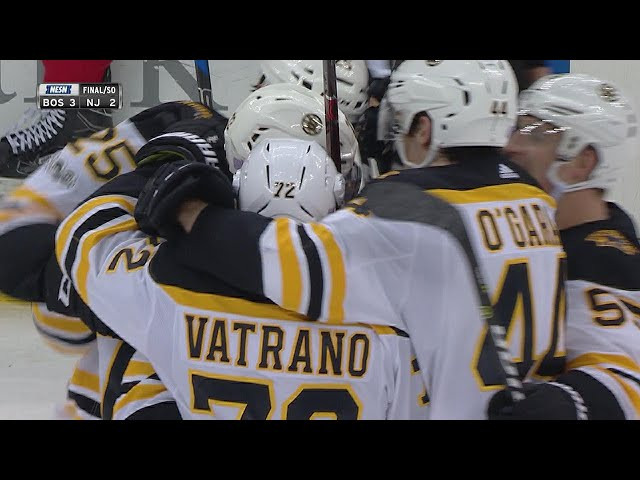 Bruins, McAvoy outlast Devils in 11 rounds for SO win