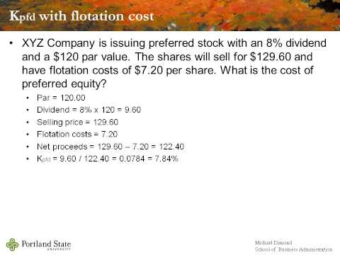 BA303 Module D Costs of Capital with Flotation Costs