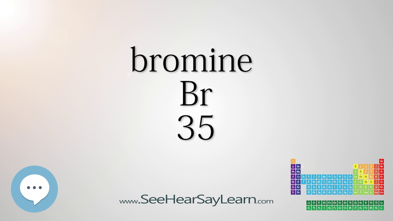 Bromine periodic table of elements youtube bromine periodic table of elements gamestrikefo Gallery