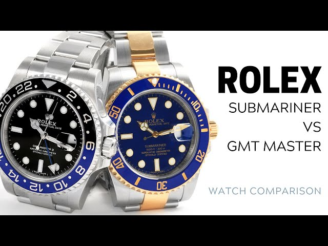 Rolex Submariner vs Rolex GMT-Master II: What's the Difference? | SwissWatchExpo [Rolex Watches]