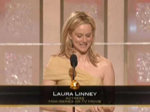 Laura Linney Wins Best Actress TV Movie  Golden Globes 2009