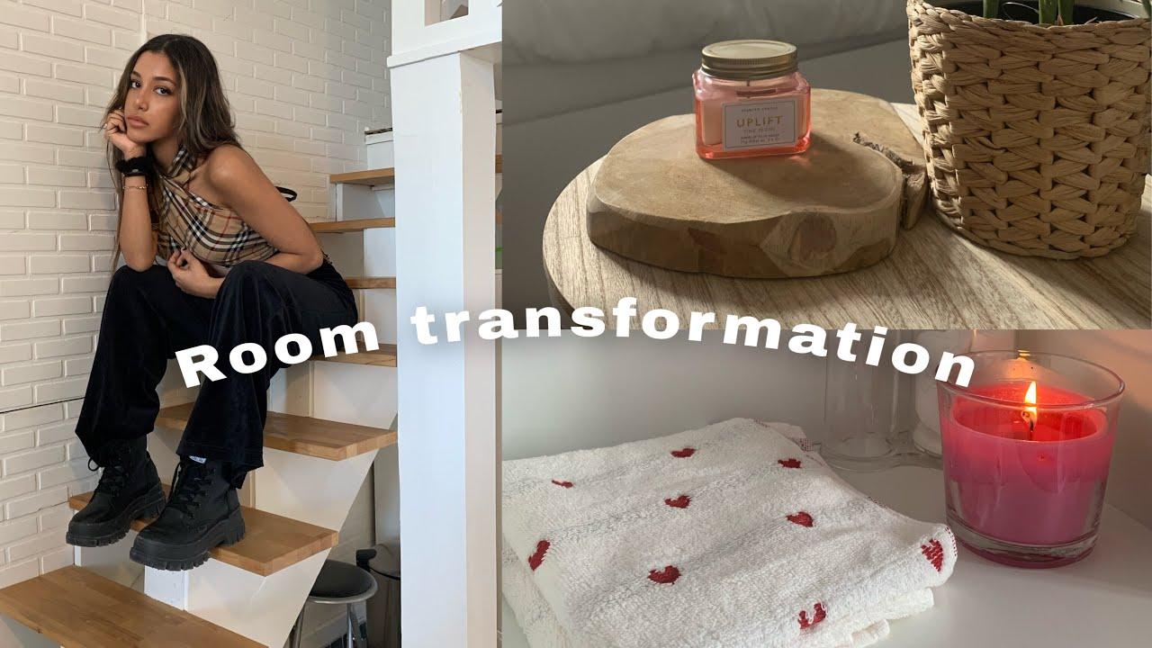 ROOM TRANSFORMATION Pinterest inspiration 💖 Roomtour