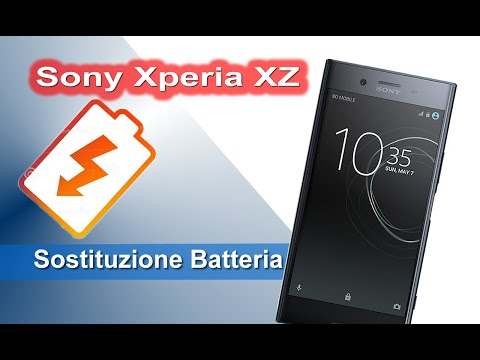 Sony Xperia XZ sostituzione batteria - Battery replacement