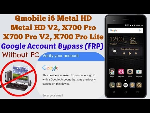 Qmobile i6 Metal HD Google Account Bypass (FRP Reset) Withuot PC