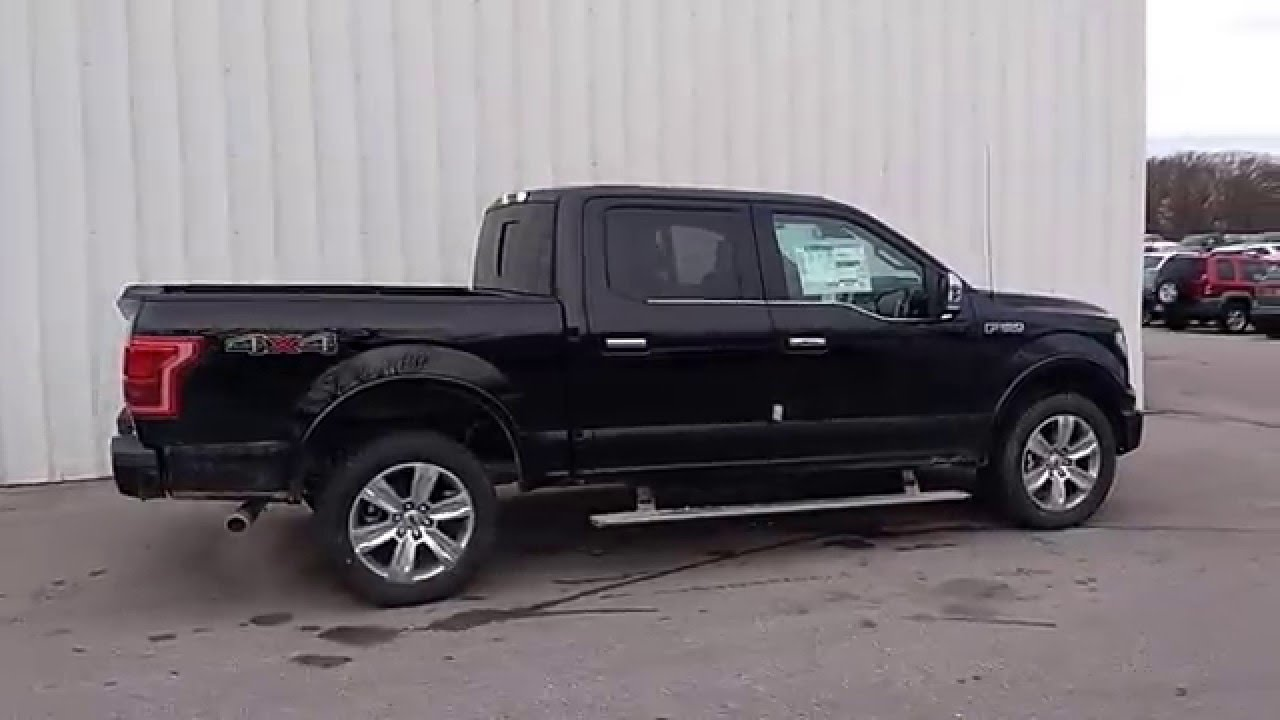Shadow Black 2016 F 150 Platinum 4x4 5 0l 701a Moonroof O Fallon Mo