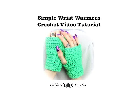 b75bca15e Crochet Tutorial - Easy Wrist Warmers - YouTube