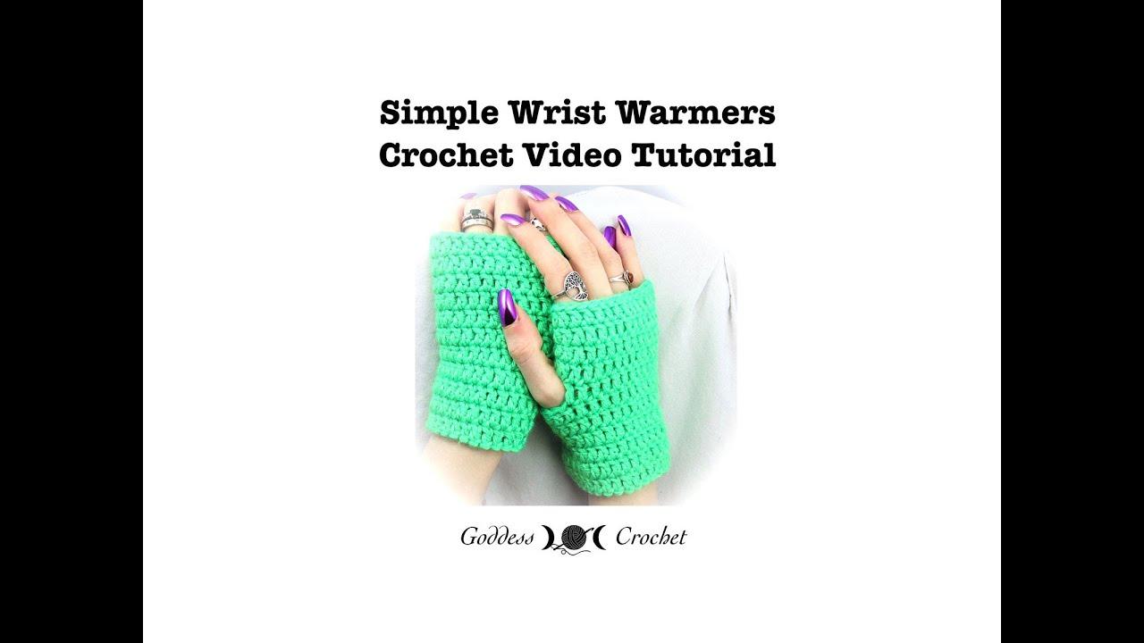 Crochet Tutorial - Easy Wrist Warmers - YouTube