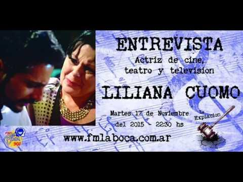"""Entrevista Liliana Cuomo """"Entre Canibales"""" - La Expiación FM 90.1 - 17/11/15"""
