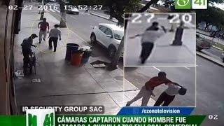 Cámaras captaron cuando hombre fue acuchillado en local comercial - trujillo